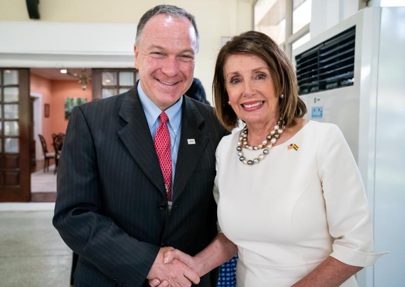 With Speaker of the U.S. House of Representatives, Nancy Pelosi, 2019